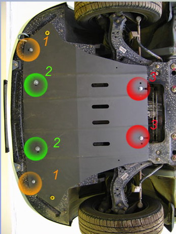 Защита картера Lifan Breez 2007 двигатель, КПП сталь 2 мм.