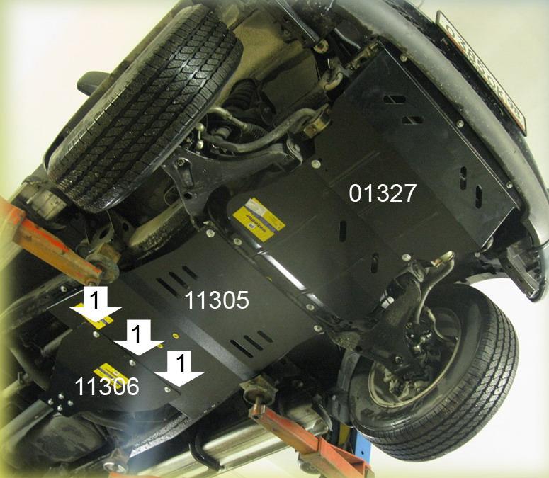 Защита двигателя своими руками на л200